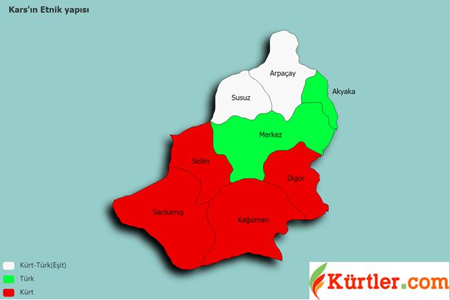 kars etnic map